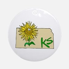 Kansas Pride! Ornament (Round)
