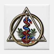 Dentistry Caduceus Tile Coaster