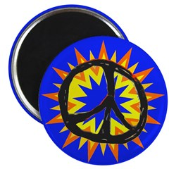 Bright Bang Peace Sign Magnet