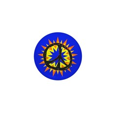 Small Kapow Peace Sign Button
