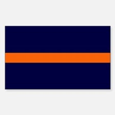 Auburn Thin Orange Line Rectangle Decal