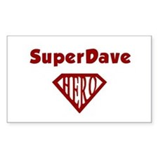 Super Hero Dave Rectangle Decal