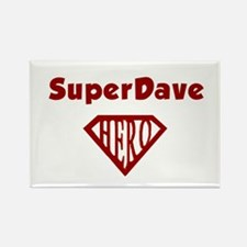 Super Hero Dave Rectangle Magnet