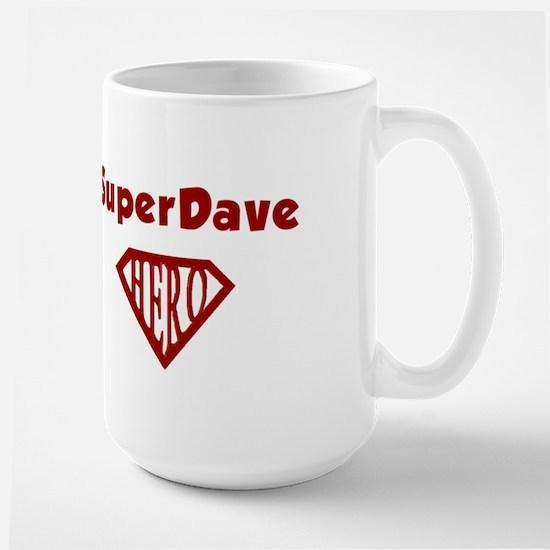 Super Hero Dave Large Mug