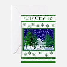 Winter Snowmobile Christmas Greeting Card