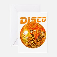 Orange Mirror Ball Greeting Cards (Pk of 10)
