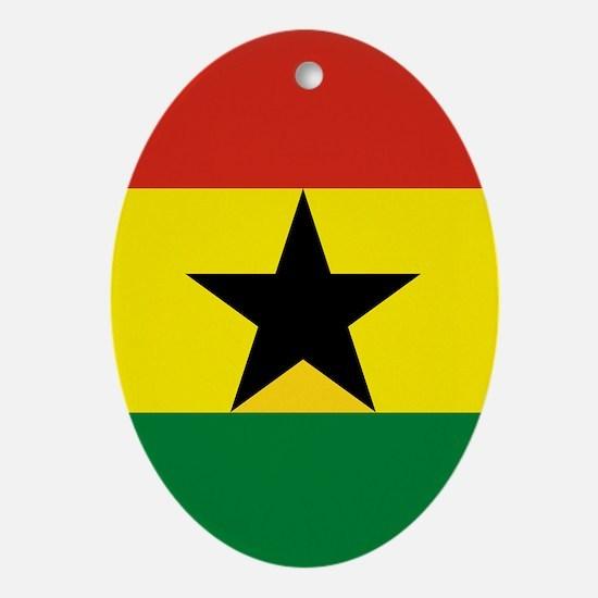 Flag: Ghana Oval Ornament