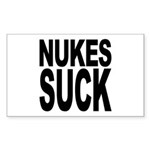 Nukes Suck Rectangle Sticker