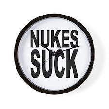 Nukes Suck Wall Clock