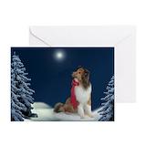 Shetland sheepdog christmas Greeting Cards