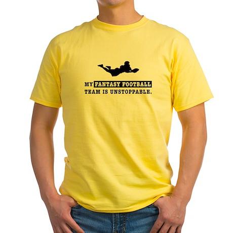 Unstoppable Fantasy Football Yellow T-Shirt
