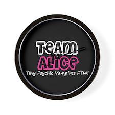 Team Alice Twilight Wall Clock