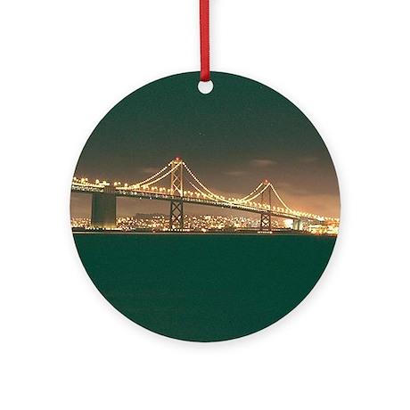 San Francisco Bay Bridge Ornament (Round)