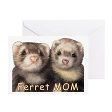 Ferret MOM Greeting Cards (Pk of 10)