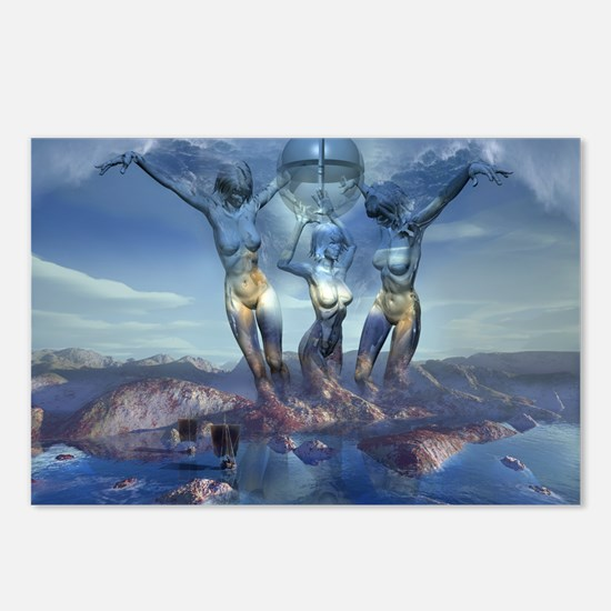 The Three Graces: Postcards (Package of 8)