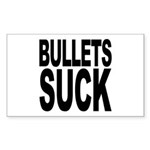 Bullets Suck Rectangle Sticker