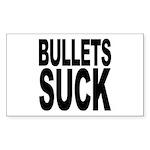 Bullets Suck Rectangle Sticker 10 pk)