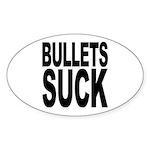 Bullets Suck Oval Sticker (10 pk)