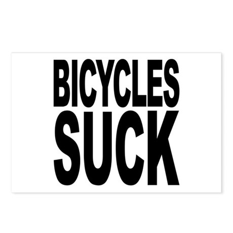 Bicycles Suck Postcards (Package of 8)