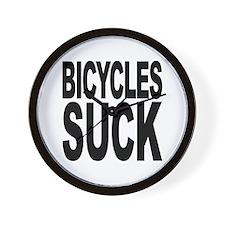 Bicycles Suck Wall Clock