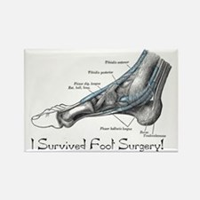 I Survived Foot Surgery! Rectangle Magnet