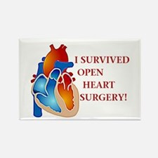I Survived Heart Surgery! Rectangle Magnet