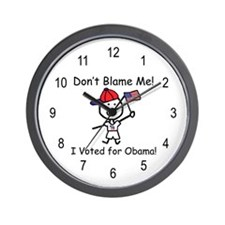 Don't Blame Me - Obama Wall Clock
