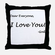 Cute God loves everyone Throw Pillow