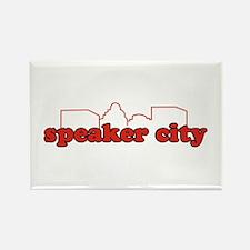 Speaker City Rectangle Magnet