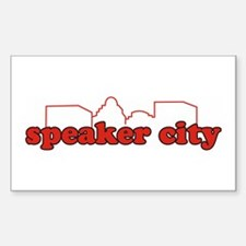 Speaker City Rectangle Decal