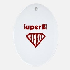 Super Hero Eli Oval Ornament