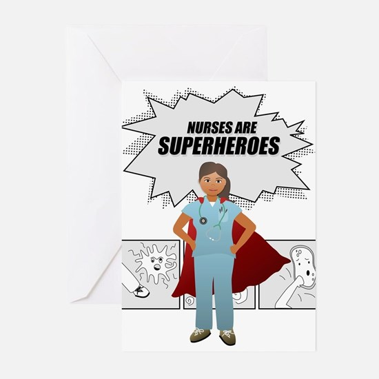 Nurses are Superheroes Greeting Cards