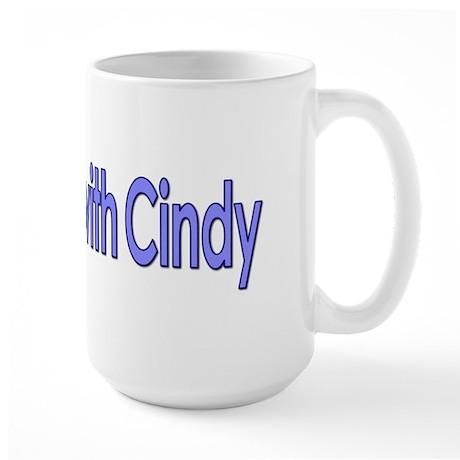 Standing with Cindy Large Mug