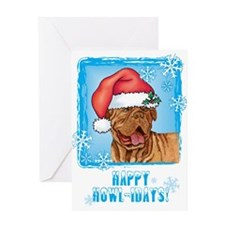 Holiday Dogue de Bordeaux Greeting Card