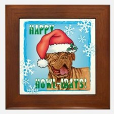 Holiday Dogue de Bordeaux Framed Tile
