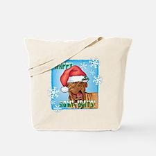 Holiday Dogue de Bordeaux Tote Bag
