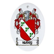 Harvey Coat of Arms Keepsake Ornament