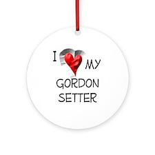 I Love My Gordon Setter Christmas Ornament