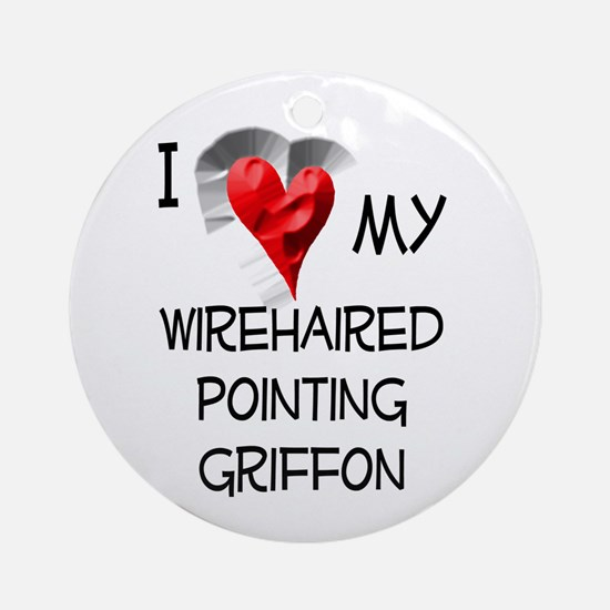 Wirehaired Pointing Griffon Christmas Ornament