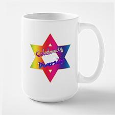 Celebrate Diversity Jewish St Large Mug