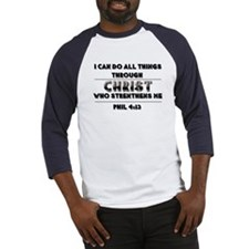 All Things Through Christ Baseball Jersey