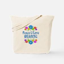 Peace Love Reading Tote Bag