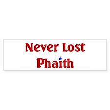 Never Lost Phaith Bumper Sticker (10 pk)