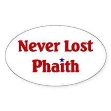 Never Lost Phaith Oval Decal