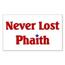 Never Lost Phaith Rectangle Decal