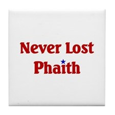 Never Lost Phaith Tile Coaster