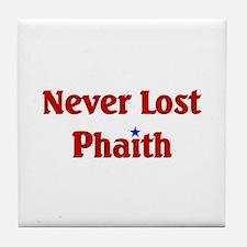 Never Lost Phaith Tile Coaster