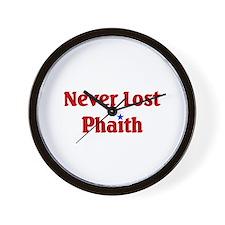Never Lost Phaith Wall Clock