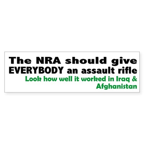 Anti-War: NRA should give EVERYBODY (Bumper)