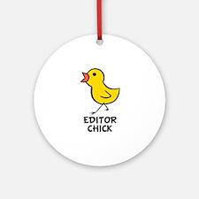 Editor Chick Ornament (Round)